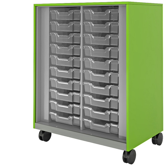 Hutch Storage With Totes